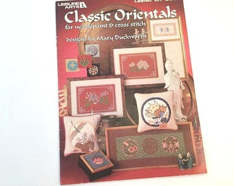 Oriental Pattern, Cross Stitch Pattern, Needlepoint Patterns, Butterfly Pattern, Cross Stitch Frame, Japanese Needlework, Leisure Arts 187