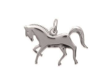 Pendant engraved horse riding Silver 925/000 with or without engraving