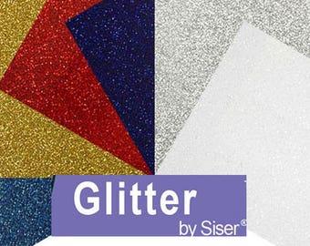 "Siser-6-sheets-PATRIOTIC-Glitter-HTV-12""x 10"" sheets-Cameo-Cricut-JULY-4th"