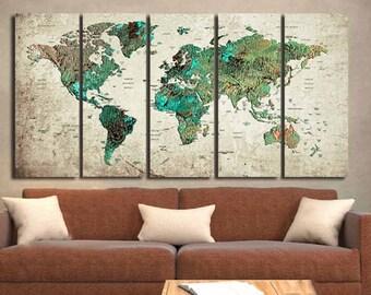 World Map Abstract,World Map Wall Art,World Map Art,World Map Canvas,Map Art,World Map Canvas Art,World Map Vintage,Living Room Map Art,Map