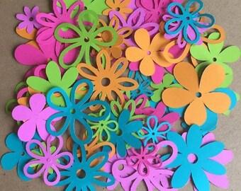 60 asssorted flowers Gum Drop color pack cricut die cuts