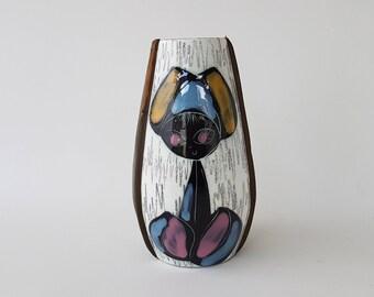 Italian vase in the style of Fantoni