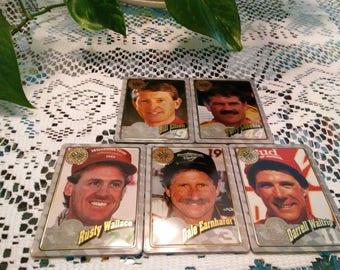 All Time Racing Greats metal collection Rusty Wallace; Dale Earnhardt; Darrell Waltrip; Bill Elloitt; Terry Labonte