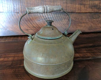 Paul Revere Vintage Rustic Copper Kettle with Lid Tea Pot