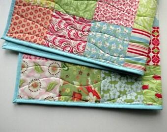 Baby girl quilt, baby shower gift, handmade baby blanket, floral quilt, nursery decor, new baby gift, play mat, stroller blanket, tummy time