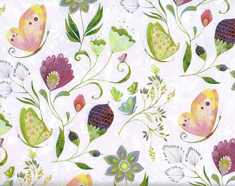 Garden in the spring - wrapping paper