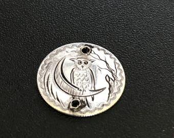 Antique Love Token Name Owl TJM tmj mjt mtj jtm jmt Bracelet or Necklace  Victorian Fob Pendant   #CELESTEANDCOGEMS