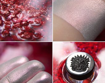 Eyeshadow: Ruby Dust - Jewel Dust. Warm pink satin eyeshadow by SIGIL inspired.