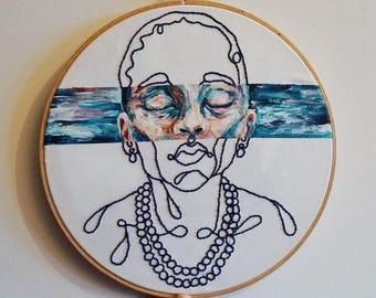 Grandmother's pearls / Original art