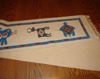 """HANDWOVEN TABLE RUNNER - Native American 13"""" W x 74"""" L"""