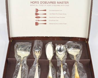 Silver Plated HOR'S D'OEUVRES SET by Godinger