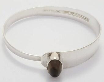 Mid Century Erik Granit Finland 1966 Sterling Silver Modernist Bracelet