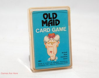 Old Maid Card Game from Whitman 1975 COMPLETE