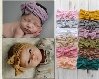 PICK ANY Nylon Baby Headbands, Stretch soft nylon head wraps, baby headband, newborn headbands, infant headband, hair bow