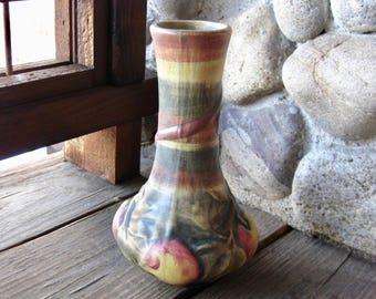 Weller Pottery Baldin Vase, Apple Design, Antique Art Pottery, Vintage 1915-1920