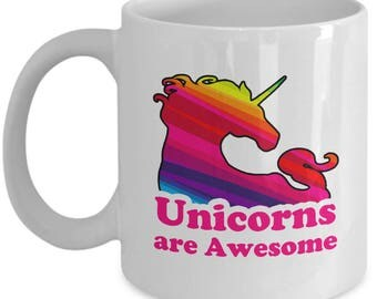 Unicorns are Awesome Funny Sarcastic Gift Coffee Cup Mug Hilarious