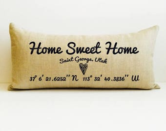 housewarming gift, custom pillow cover, custom throw pillow, personalized pillow, housewarming gift, custom gift, birthday gift, home pillow