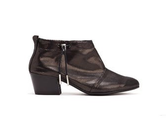 Booties, Slouch Boots, Ankle Boots, Handmade Leather Boots, Womens Boots, Mid Heel Boots, Kiera // Free Shipping
