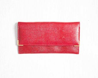 50s Red Leather Purse