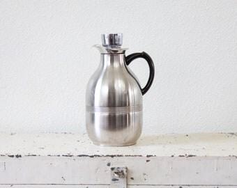 Stainless Steel Thermal Coffee Carafe ~ Vintage Coffee Carafe ~ Water Carafe ~ Thermal Pitcher ~ Vacuum Serving Carafe ~ Vintage Barware