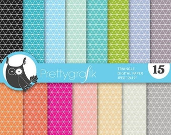 80% OFF SALE triangle geometric digital paper, commercial use, scrapbook papers, background - PS638