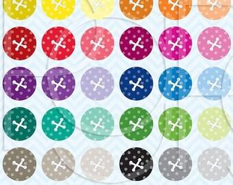 80% OFF SALE 30 button clipart commercial use, vector graphics, digital clip art, digital images - CL469