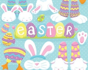 80% OFF SALE Easter bunny feet clipart commercial use, vector graphics, digital clip art, digital images  - CL823
