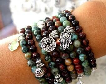 Sale 20% Rabais Large boho bracelet stack, gypsy bead bracelet, yoga bracelet, beads bracelet, gypsy bracelet, charm bracelet stack, made in