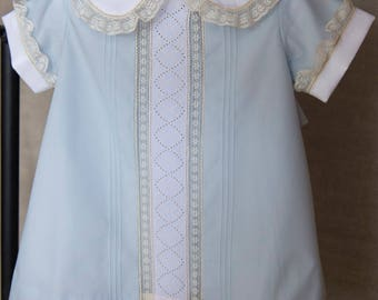 Apron with Swiss Embroidery