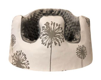 Grey Dandelion Bumbo Seat Cover- You Pick Minky Color
