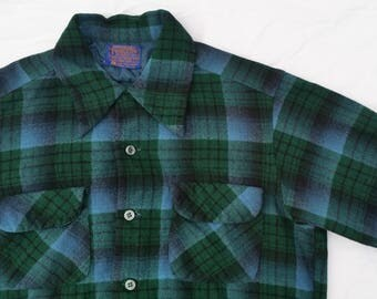 Pendleton Vintage Blue and Green Shirt