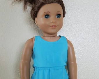 Cool Blue Romper for 18 inch dolls by The Glam Doll