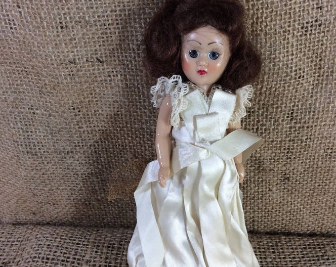 ON hold for Niki Lopes.l from the mid century, possible Nancy Ann Storybook doll, vintage doll collectibles, bridal doll, vintage bride doll