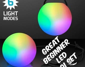 Sale!!  Color Strobing LED POI - Great Beginner Set - 6 Modes - POI Balls
