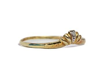 8K Vintage Diamond Gold Ring Jewelry
