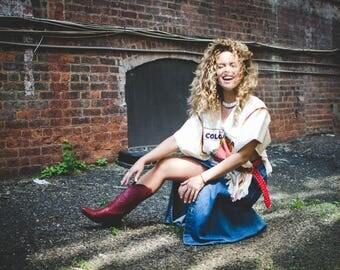 Liz Claiborne long denim skirt, Vintage Badass for your collection