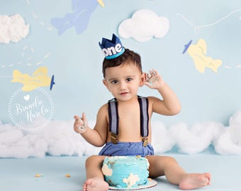 Boy Birthday Crown    Boy Photo Prop    Cake Smash Outfit Boy    1st Birthday Boy Outfit    Birthday Crown Boy    Boy Birthday Outfit