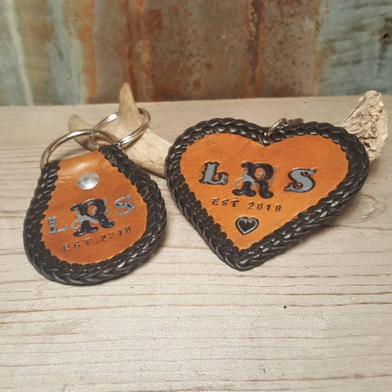 Couples Leather Key Chains