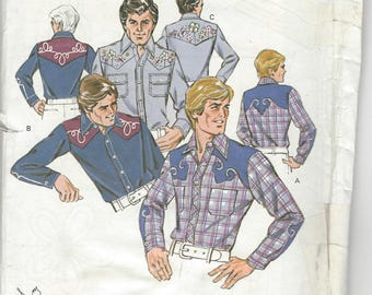 Kwik Sew Men's Western Shirt with embroidery sewing pattern by Kerstin Martensson