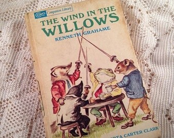 On Sale The Wind In The Willows Kenneth Grahame Illustrated 1966 Childrens Book