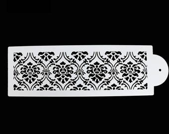 Damask Stencil - 587331 -  Cookies Cupcakes Cakes Decorations Wedding Flower Floral