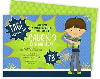 Laser Tag Invitation, Laser Tag Party, Laser Tag Birthday Invitations, Laser Tag Invites, Laser Tag Birthday,Laser Tag,Laser Tag Invite |128