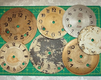 7 Vintage Clock Faces