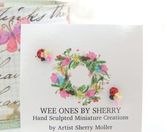 Wee Lovely Little Ladybugs Miniature Figurine