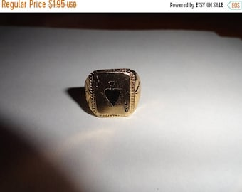50% OFF A Ace ring Poker cards rings Vintage adjustable metal ring unique design