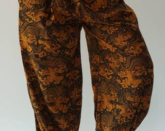 HC0512 Thai Genie Pants Comfy Trouser, Gypsy Pants cotton Pants,Aladdin Pants harem Pants Boho Pants