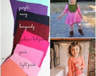 Long Sleeve Solid Peplum Top, Choose a color, Girls Fall Tunic, Peplum, Baby Top, Toddler Shirt, Custom Top