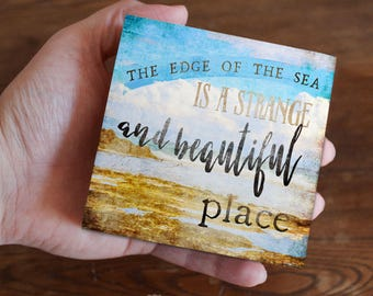 Coastal decor, beach decor, beach house decor, the edge of the sea, coastal wall art, coastal art, wall art, beach wall art, wall decor