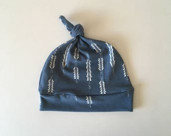 Weathered Blue Arrow Knotted Hat