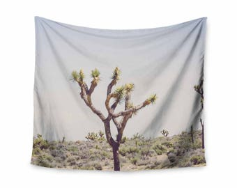 desert tapestry, joshua tree, california wall tapestry, desert decor, joshua tree decor, desert art, dorm decor, apartment decor, blue,